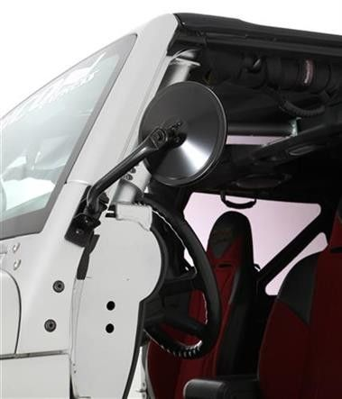 Smittybilt Quick Release Trail Side Mirrors   97-16 Jeep Wrangler