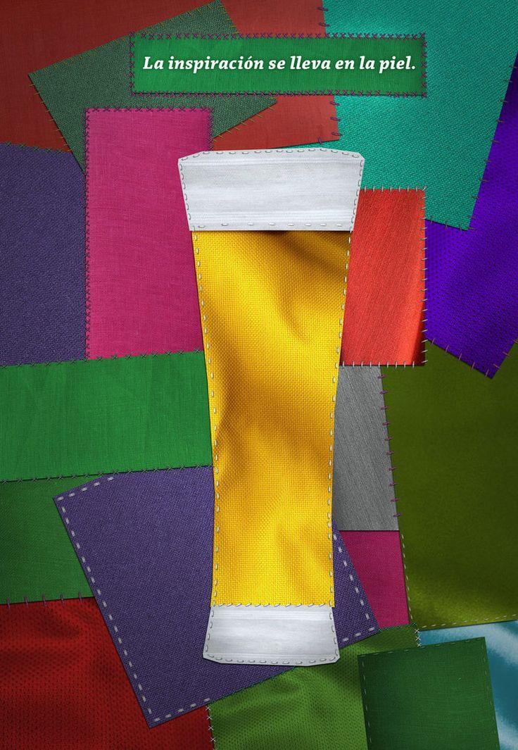 Fotomontage hecho para un aviso de cerveza que auspiciaría un evento de moda.