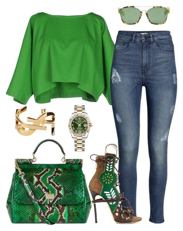"""""""Untitled #253"""" by scannedbyaaron ❤ liked on Polyvore featuring Maison About, H&M, Christian Dior, Rolex, Yves Saint Laurent, Dsquared2, Dolce&Gabbana, women's clothing, women and female"""