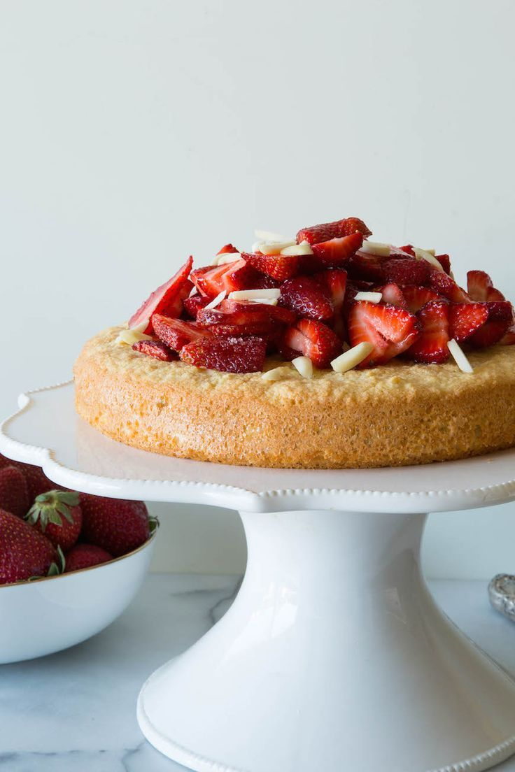 Gluten-Free Almond Cake with Strawberries .. Use a natural sweetener like stevia to make it low carb