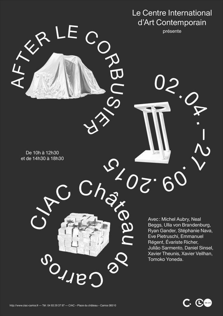 """lucaduveau: """" Poster """"After Le Corbusier"""" """""""