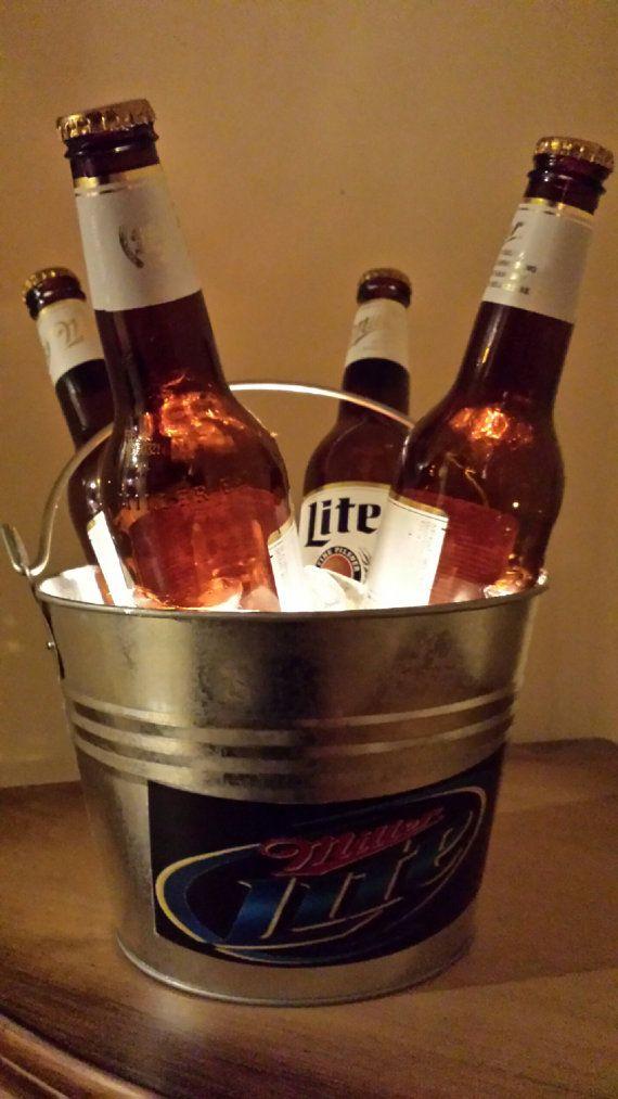 This Lighted Bucket of Miller Lite Beer by LetsGetLitBottles