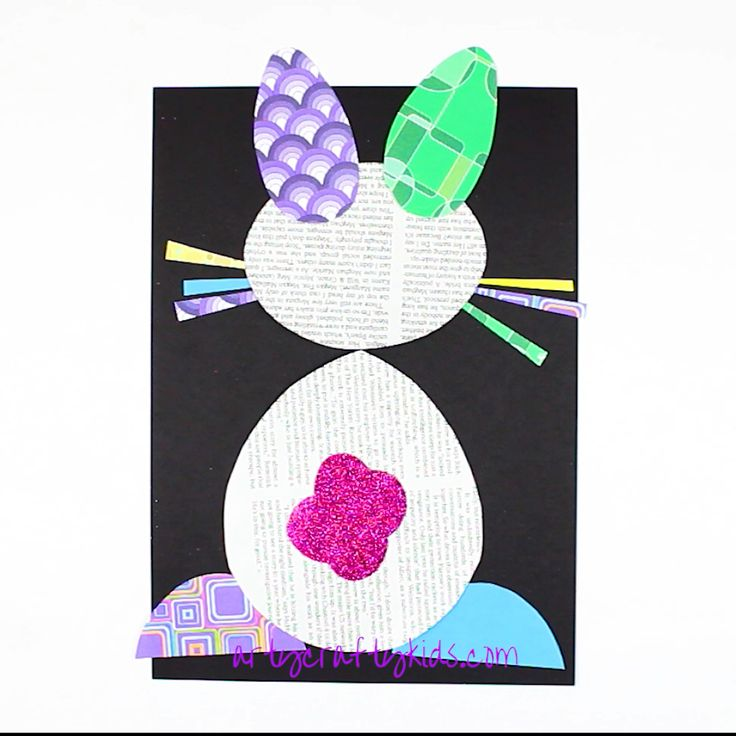 Easter Bunny Newspaper Art Project