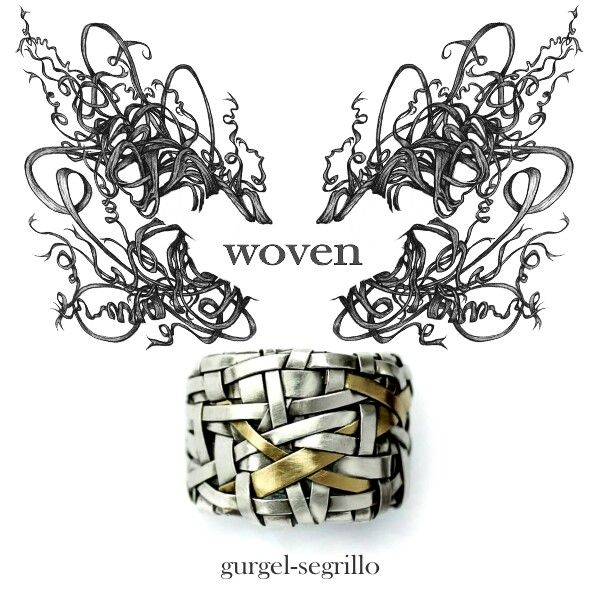 woven series of contemporary jewelry, by gurgel-segrillo