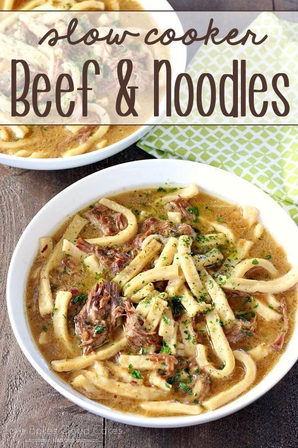 Slow Cooker Beef & Noodles - So easy and delicious!