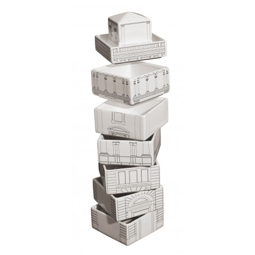 This range of plates/bowls stack as a tower - very, very cool.....Seletti - The Small Bowl - Torrione - Palace - White | Seletti New Zealand, Australia, Hong Kong