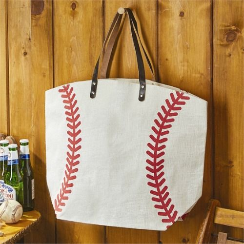 Baseball Jute Bag www.rhinestonegal.com