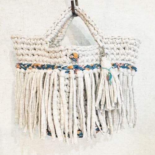 Tシャツヤーンのマルシェバッグの作り方|編み物|編み物・手芸・ソーイング|作品カテゴリ|アトリエ