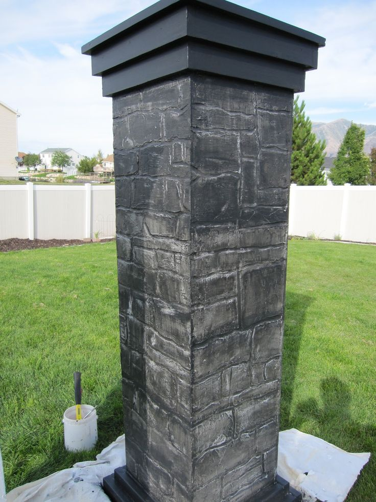 DIY Cemetary Columns (Halloween yard prop). This is a beautifully detailed tutorial but definitely not for beginners.