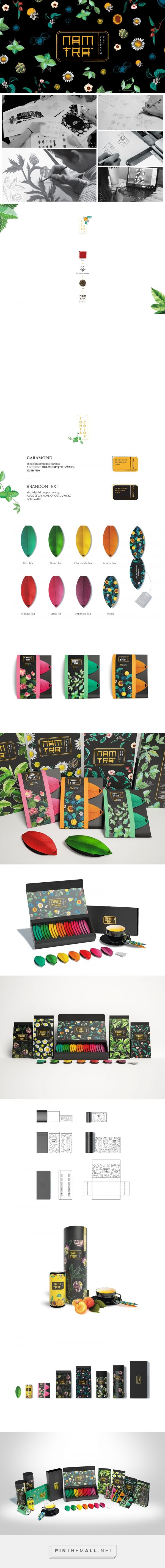 Nam Tra Tea packaging design by RIO Creative - http://www.packagingoftheworld.com/2016/12/nam-tra.html
