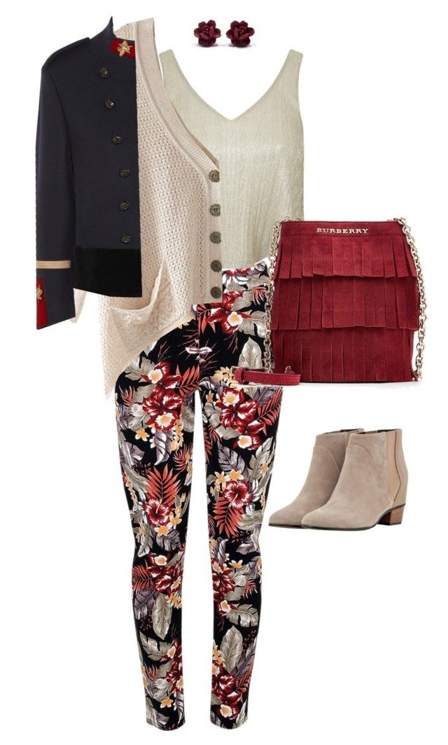 """Tones"" by valeria-verde on Polyvore featuring Miss Selfridge, Chicnova Fashion, Golden Goose, Burberry, Gucci, women's clothing, women's fashion, women, female and woman"