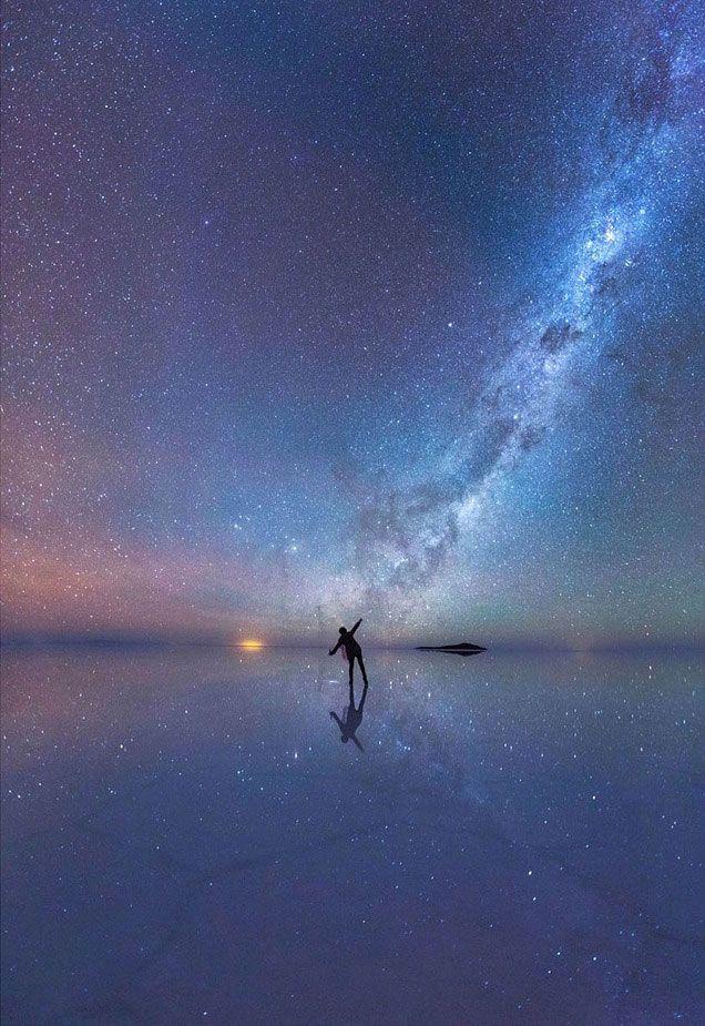 « Le miroir de ciel étoilé » (Salar de Uyuni en Bolivie) par Xiaohua Zhao