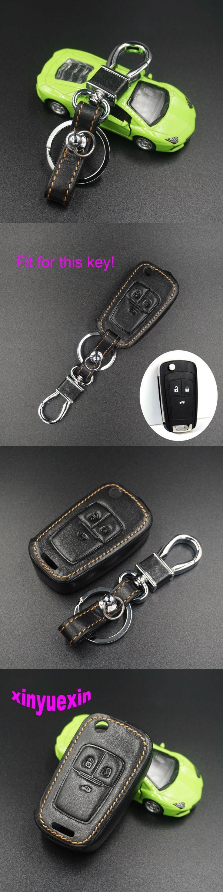 Xinyuexin Leather Car Key Cover Fob Case For Chevrolet Cruze 2013 Spark Onix Silverado Volt Camaro Aveo Sonic Remote Key Jacket