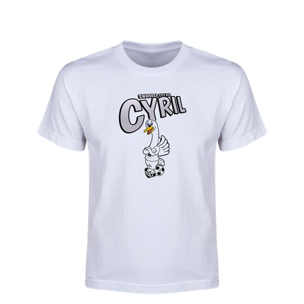Swansea City Cyril Youth T-Shirt (White)