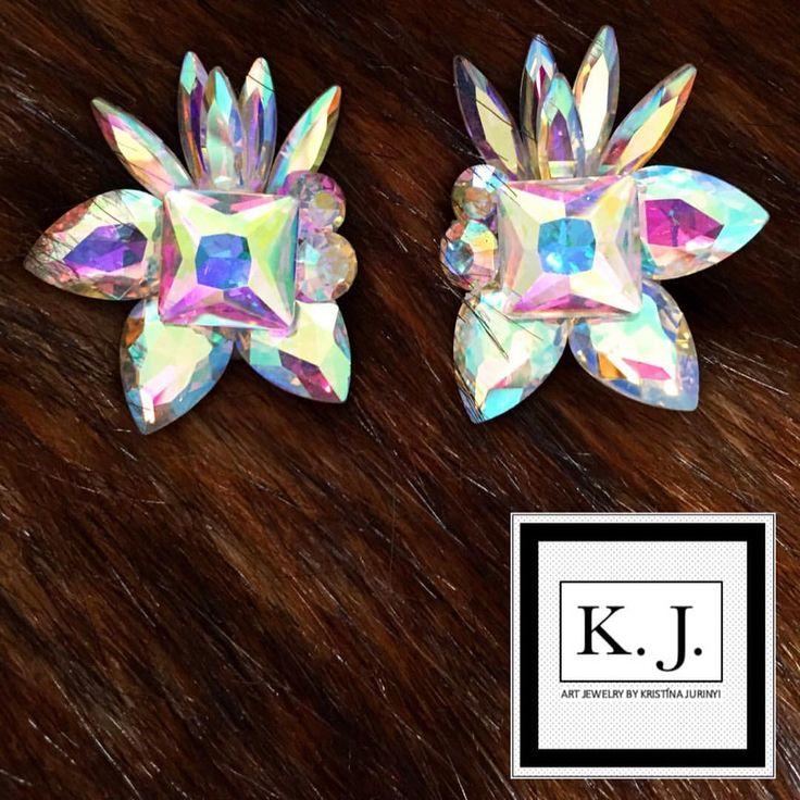 """Páči sa mi to: 7, komentáre: 1 – ArtJewelry by Kristína Jurinyi (@k.j.artjewelry) na Instagrame: """"#artjewelrybykristinajurinyi #handmadejewelry #aurora #dance #earrings…"""""""