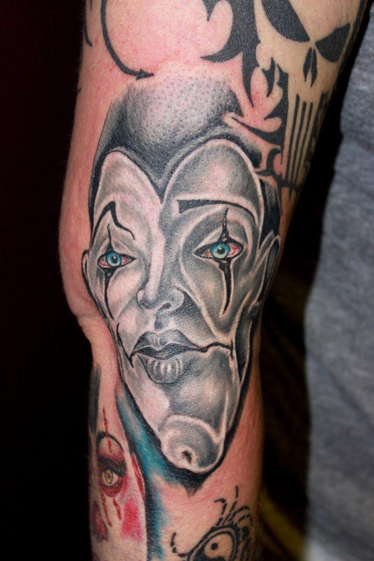 Creepy Tattoos Creepy gangster tattoo on