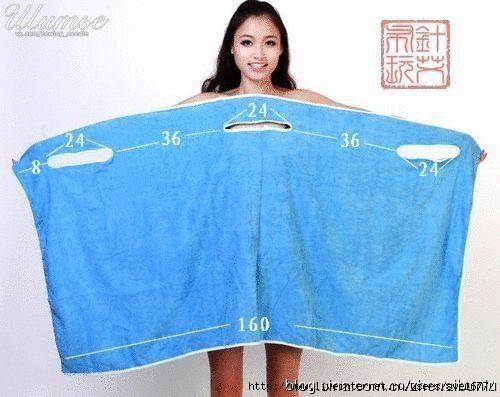 Ideas para el hogar: Confección de una salida de baño con secillo corte y costura