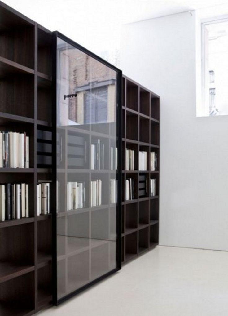 modular bookcase with glass sliding doors system 2012 by porro bookcase design with new glass sliding doors modern furniture design idea - Bookcase Design Ideas