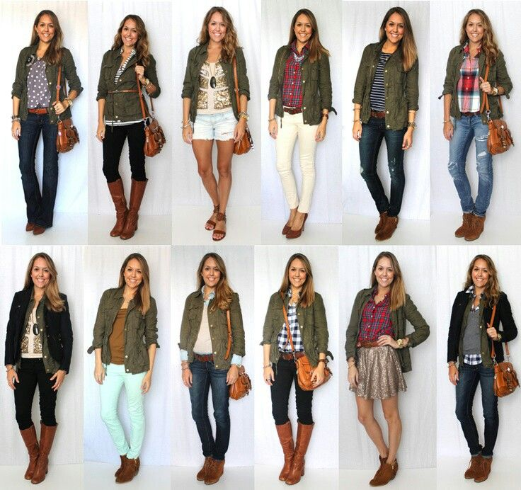Green jacket outfit ideas. | Style | Pinterest | Utility jacket Home and Military jackets