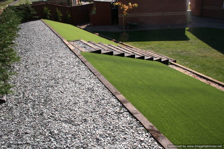 ....And what about an Unreal Garden Artificial Grass slope? http://www.unrealgardens.co.uk/Mark-Terry-Artificial-Grass-Installation-Lincoln.html