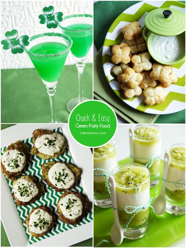 Bird's Party Blog: St Patrick's Day Party: Last Minute GREEN Party Food + Cocktail Recipes