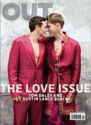 "OUT magazine celebrates love with its February 2016 issue. 21 year-old British Olympic swimmer Tom Daley and his fiancee, director Dustin Lance Black cover the issue. Wearing matching ensembles, the couple wear intimates from Versace and Derek Rose. Talking about the beginning stages of their relationship, Black shares, ""Love is a commitment to me–something that... [Read More]"
