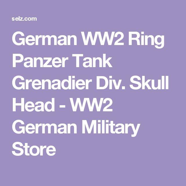 German WW2 Ring Panzer Tank Grenadier Div. Skull Head - WW2 German Military Store