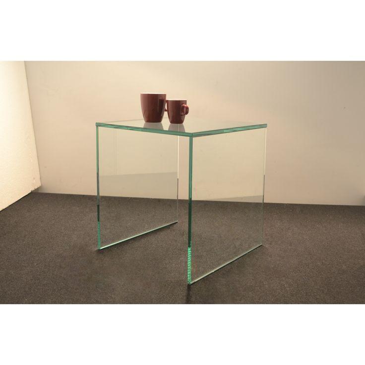 glazentafel.com | Glazen Bijzettafel Florida op maat Safety Glass  | Hardglazen bijzettafel op maat. Zo kunt u de maat tot op de milimeter nauwkeurig bepalen, ook de dikte en het soort glas kunt u zelf kiezen. Deze tafel is eventueel uit te breiden met een extra draagplank waarvan u ook zelf de hoogte kunt bepalen | Dikte: 10mm of 12mm | Beschikbare kleuren blad: Helder Kristal  Deze bijzettafel is op maat verkrijgbaar.