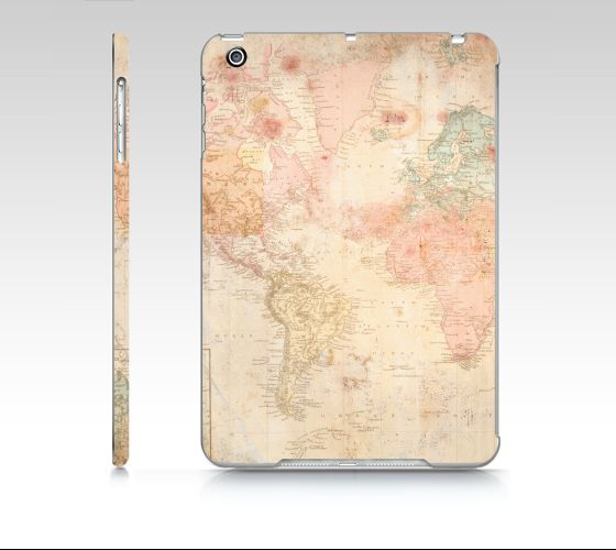 "#ArtOfWhere iPad+mini+""Another+vintage+world+map""+by+Marosée+Créations"