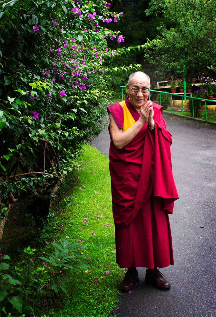 His Holiness the 14th Dalai Lama. Forced out of Tibet by the Chinese, now living in India.