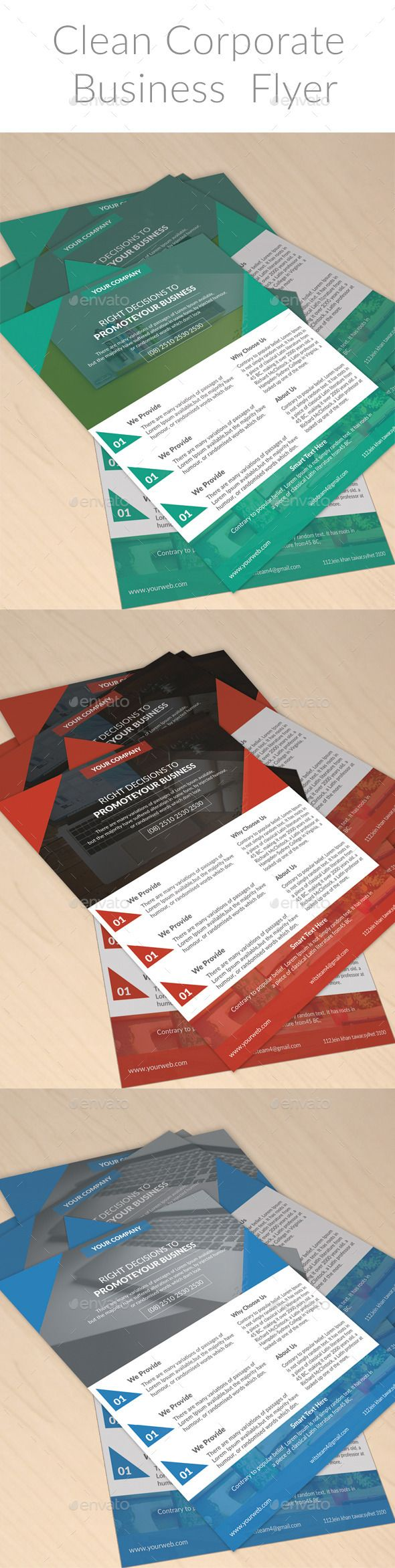 Clean Corporate  Business  Flyer Template - Corporate Flyers