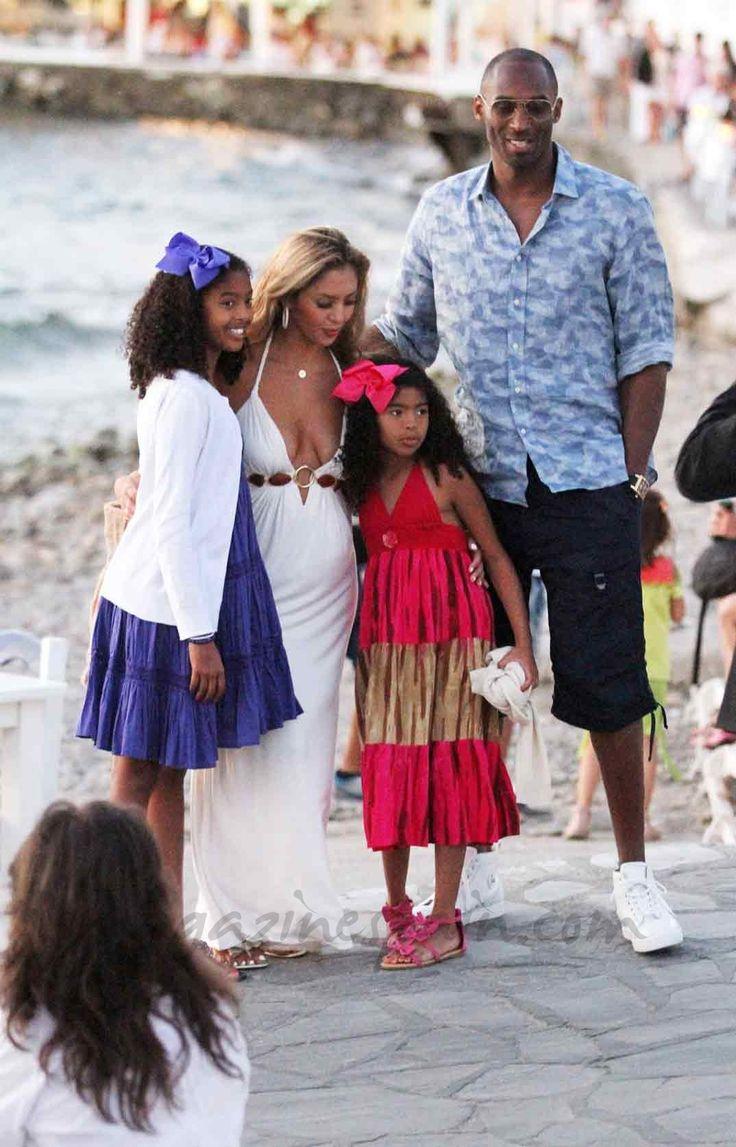 Kobe-Bryant y familia