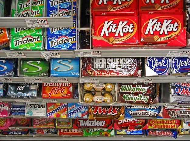 But they still have space to line up lots of candy and other impulse buys you may have resisted in other parts of the store. | 19 Supermarket Mind Games That Get You To Buy More Junk Food