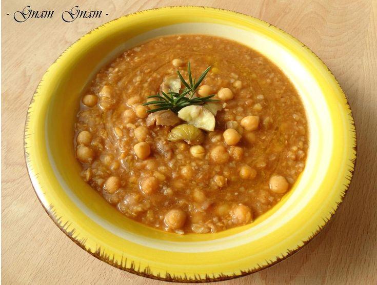 Zuppa di ceci e castagne | Ricetta