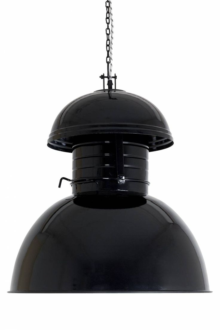 "HK-living Hanglamp zwart metaal Ø56cm, Industriële lamp ""Warehouse"" XL"