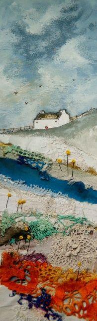 ''Along the river'' by Louise O'Hara of DrawntoStitch www.facebook.com/DrawntoStitch