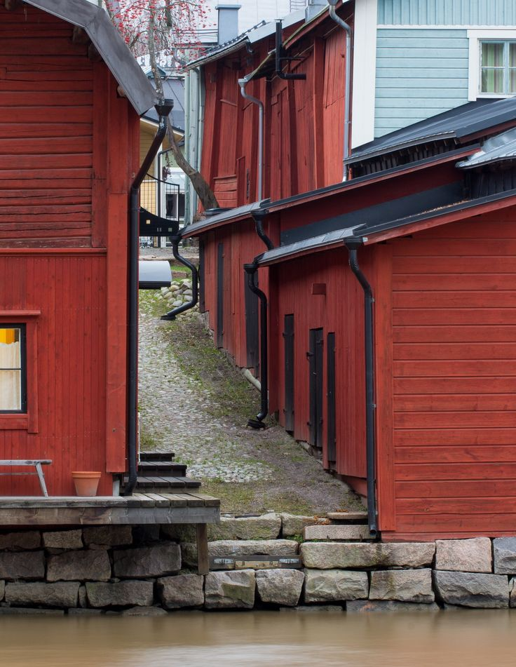 River storehouses of Porvoo by Vesa Marjanen on 500px