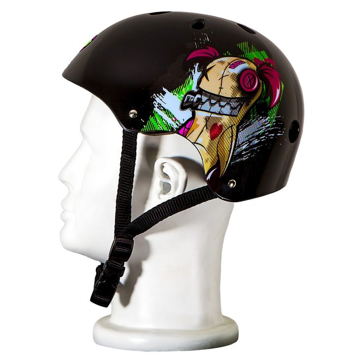 Punisher Skateboards Jinx Skateboard Helmet Black