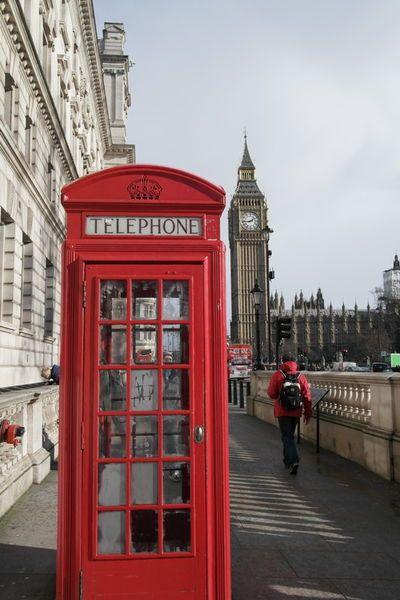 'Rote Telefonzelle London' von stephiii bei artflakes.com als Poster oder Kunstdruck $15.68