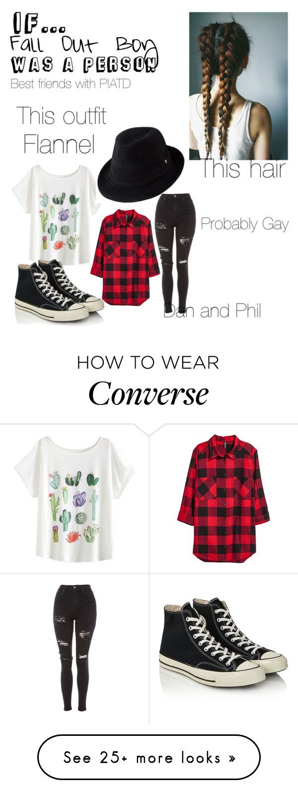 """""""If FOB was a person"""" by xx-cheshire-xx on Polyvore featuring Helen Kaminski, Topshop and Converse"""
