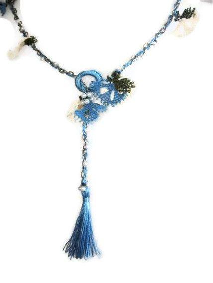 Long Neddle Lace Oya Necklace by neduk on Etsy, $15.00