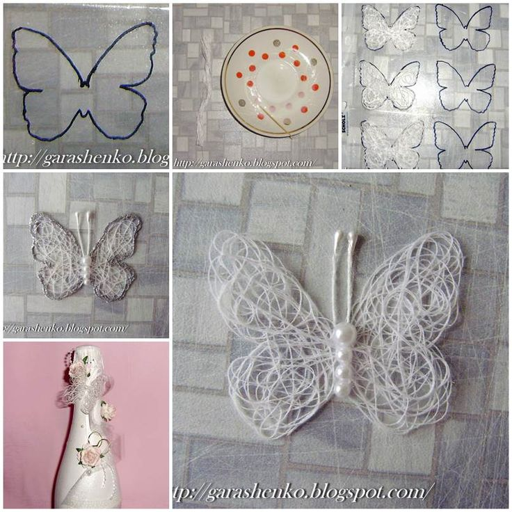 DIY Delicate Thread Butterfly  https://www.facebook.com/icreativeideas
