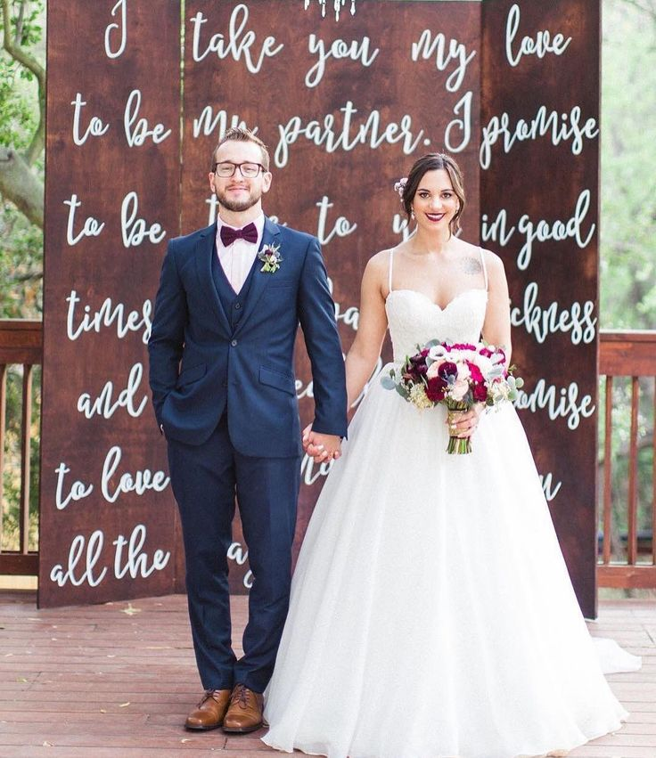 If Handlettered Ceremony Boards Become The New Must Have Backdrop Trend For 2017 We Certainly Wouldnt Be Mad About It