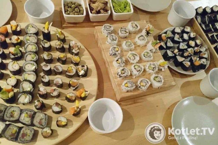 sushi-Sushi gotowe :) świetnie sprawdza się kręcona deska
