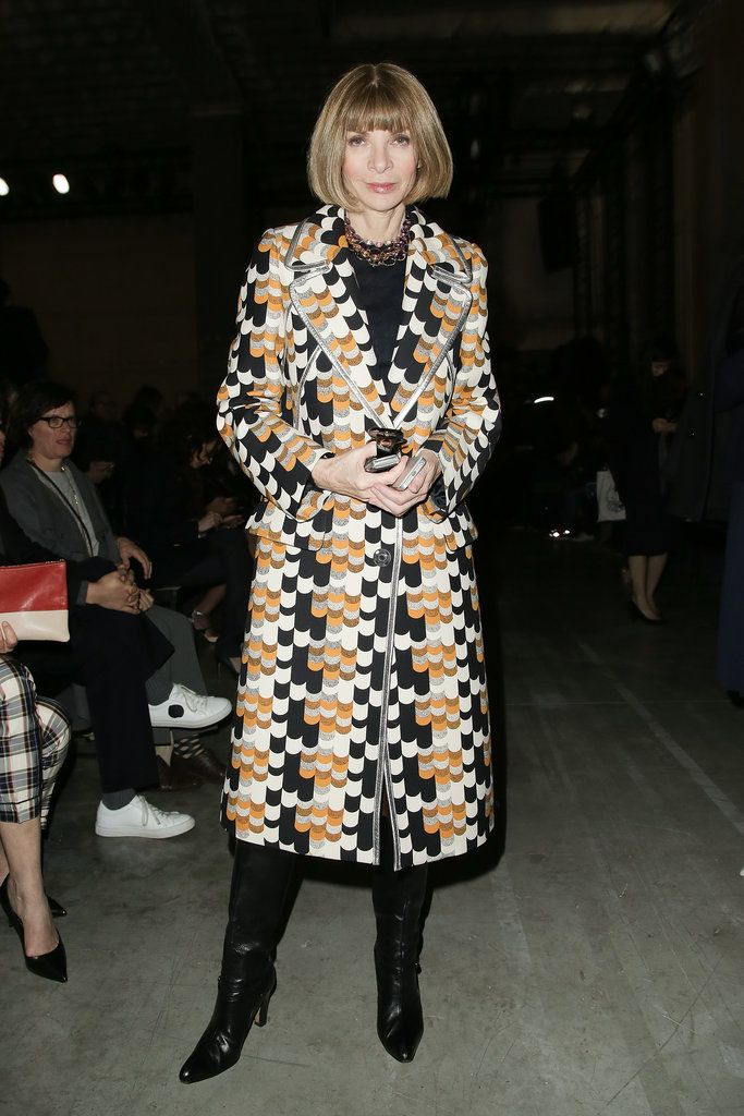 Anna Wintour at the Rochas Fall 2014 show in Paris.