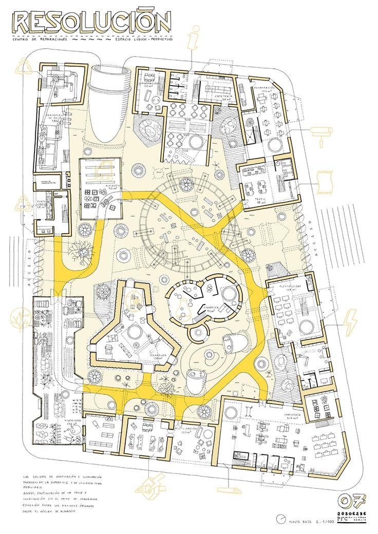 Proyecto de Fin de Carrera de Arquitectura. Universidad Europea de Madrid, Julio de 2012. Autor: Guillermo Trapiello Resolución plantea ...