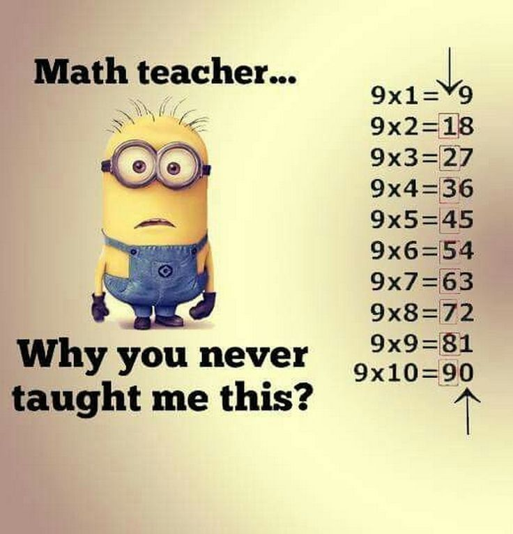 "Minion Teacher: ""Class, This is the EASIEST way to learn the 9 Multiplication Table; are you now willing and able?"" http://ibeebz.com"
