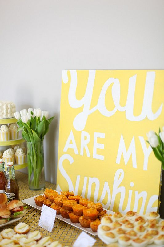 You are my Sunshine birthday party, by annieseats, via Flickr ~~ inspiration for Max's Summer party