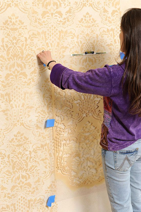 Damask Stenciling Tips for walls  blog.cuttingedgestencils.com