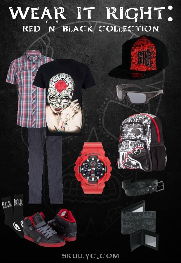 Wear It Right for Guys: Red 'n' Black CollectionBlack Collection, Red Black